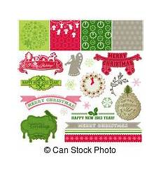 christmas card with bird and wreath for design and scrapbook in vector