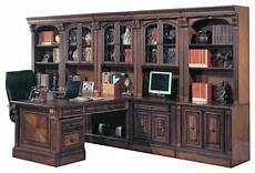 traditional home office furniture huntington peninsula desk wall office unit 12 piece
