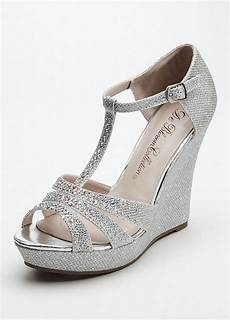 Silver Wedge Heels Wedding wedding bridesmaid shoes glitter t wedge sandal