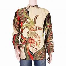 grosir batik jogja 187 kemeja furing motif burung merak eksklusif