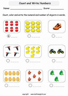 Write Up To 10 Printable Grade 1 Math Worksheet