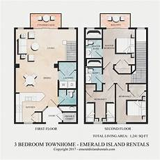 condominium house plans emerald island 3 bed villas floor plan