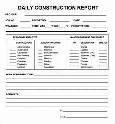 Bau Tagesbericht Vorlage - daily report 7 free pdf doc sle templates