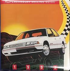 old cars and repair manuals free 1992 chevrolet sportvan g20 transmission control 1992 chevy caprice repair shop manual original