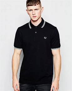 fred perry fred perry polo shirt with tip regular