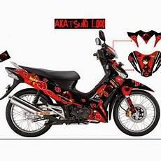 Modifikasi Supra 125 Airbrush by Foto Variasi Modifikasi Airbrush Supra X 125 Simple Keren