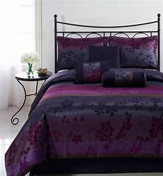 liz 7pc jacquard multi purple color comforter set full
