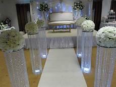 3 feet iridescent wedding aisle decoration crystal pillars
