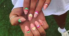 watermelon nail ideas for cute summer nail art designs