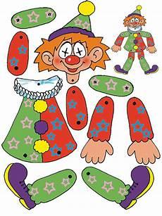 clown basteln mit kindern aus tonpapier klorollen