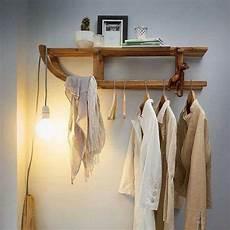 garderobe selber bauen holz kapstok oude slee interieur meubel idee 235 n huis