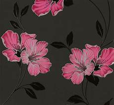 tapeten blumen tapete blumen grau pink tapeten livingwalls atlanta 94429