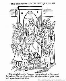 Ausmalbilder Ostern Bibel Easter Bible Coloring Pages Jesus Enters Jerusalem