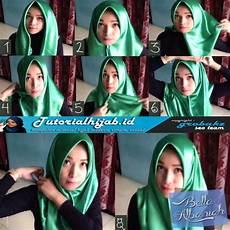 Cara Menggunakan Jilbab Segi Empat Bahan Saten Tutorial