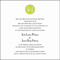 Wedding Ceremony Invitations