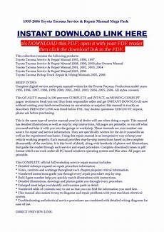 how to download repair manuals 2004 toyota tacoma electronic valve timing 1995 2006 toyota tacoma service repair manual mega pack by dalire vorrax issuu