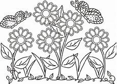 immagini di fiori da colorare e stare fiori e farfalle da colorare idee green
