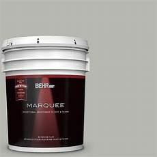 behr marquee 5 gal ppu18 11 classic silver flat exterior paint 445005 the home depot