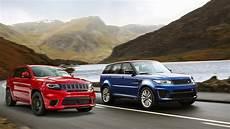 range rover jeep 2016 range rover sport svr vs 2018 jeep grand trackhawk