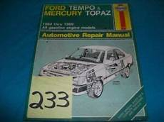 car repair manual download 1985 mercury topaz parking system ford tempo mercury topaz 1984 85 86 87 88 89 ebay