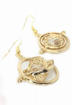 Harry Potter Ohrringe - time turner earrings inspired by harry potter gold plated