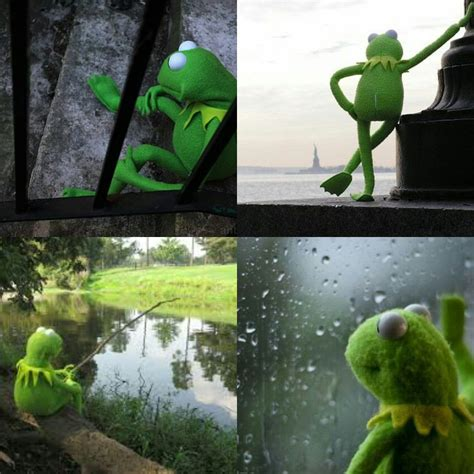 Kermit The Frog Waiting