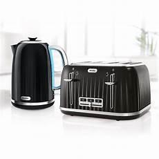 impressions collection kettle toaster set black breville