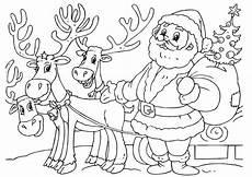 Malvorlagen Rentieren Malvorlage Weihnachtsmann Mit Rentieren Kostenlose