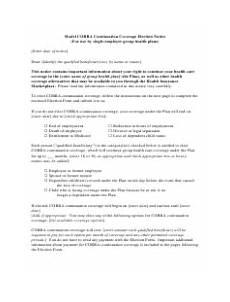 cobra continuation coverage election notice form download printable pdf templateroller