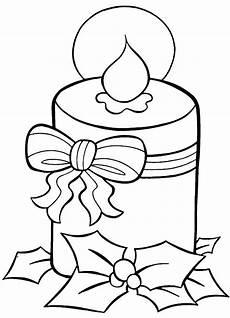 disegni di candele natalizie natale candela da stare e colorare