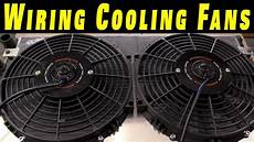 how to wire electric cooling fans with crimp connections youtube