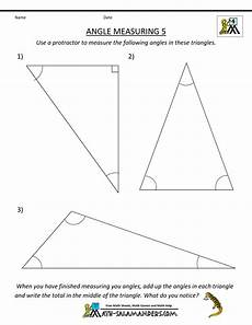 free angle measurement worksheets 1993 4th grade geometry