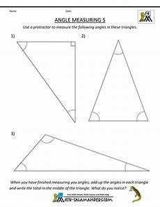 geometry worksheets measuring angles 805 4th grade geometry