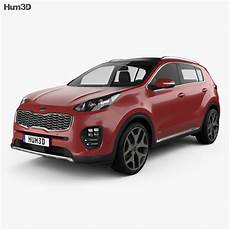 kia sportage gt line 2016 3d model vehicles on hum3d