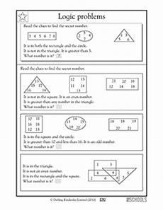 logic problems 3rd grade 4th grade math worksheet greatschools