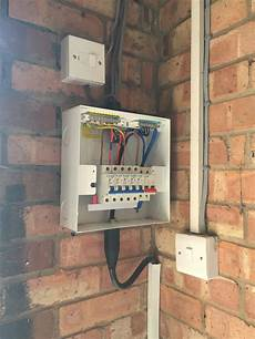 updating the garage or shed consumer unit case local electricians
