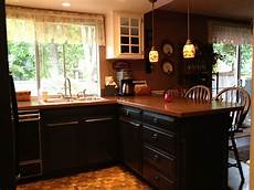 Kitchen Paint Satin by Did It Painted My Kitchen Base Cabinets Black The