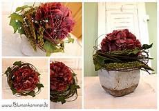 hortensien gesteck selber machen blumenkammer individuelle floristik mit seidenblumen