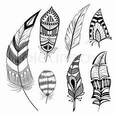 Indianische Muster Malvorlagen Text Jahrgang Meldung Dekorativ Vektorgrafik Colourbox