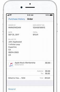 apple receipt see your purchase history in the app store or itunes store