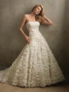 full applique flower ball gown couture vintage wedding dresses prlog