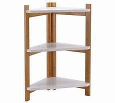 buy collection 3 tier two tone corner shelf unit at argos
