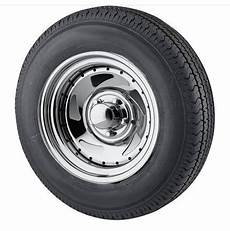 st205 75r15 radial trailer tire with 15 inch 5 bolt chrome