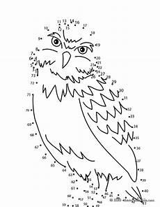 Ausmalbilder Zahlen Verbinden Bis 10 Owl Dot To Dot Coloring Pages Hellokids