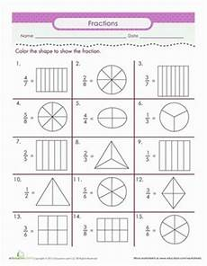 color the fraction 2nd grade math fractions 2nd grade worksheets fractions worksheets