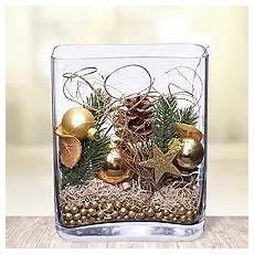 weihnachtliche deko im glas deko glas goldene weihnachten weihnachten vasen deko im
