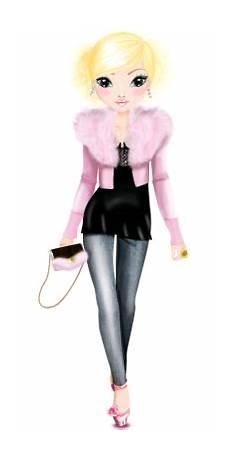 Topmodel Ausmalbilder Louise Topmodel Louise Meisjes Kleding Ontwerpen Mode