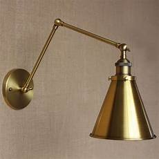 rh loft brass gold color two arm sconce home office