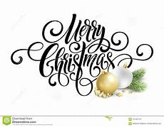 merry christmas handwriting script lettering greeting background with a christmas tree and