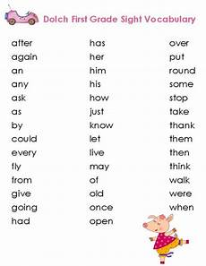 first grade dolch vocabulary list vocabulary list vocabulary and words